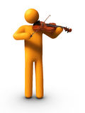 Playing Violin Stock Photography
