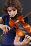Playing the violin Royalty Free Stock Photography