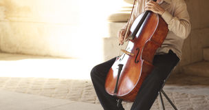 Playing violin Royalty Free Stock Photo