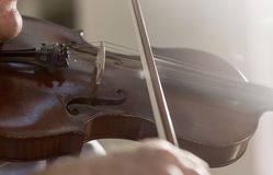 Playing Violin Royalty Free Stock Photos