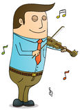 Playing violin Royalty Free Stock Images