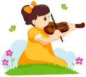 Playing Violin Stock Image
