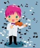 Playing violin boy Royalty Free Stock Photos