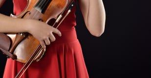 Playing violin Stock Photography