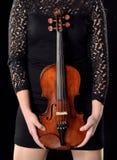 Playing violin Royalty Free Stock Photography