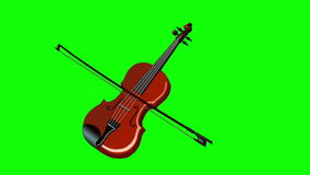 Playing the Violin Isolated on Green Screen