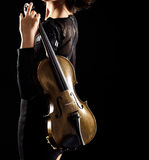 Playing violin Royalty Free Stock Photography