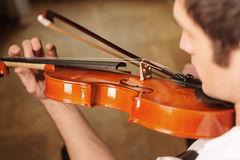 Playing the violin Stock Photo