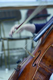 Playing the violoncello Royalty Free Stock Photos