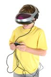 Playing in virtual reality royalty free stock images