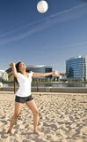 Playing volleyball Royalty Free Stock Photo