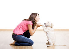 Free Playing With A Puppy Stock Photo - 11903620