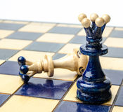 Playing wooden chess pieces Stock Photography