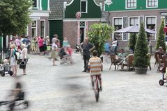 Playing on the Zaanse square Royalty Free Stock Photo