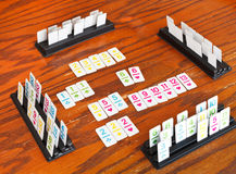 Playingfield of rummy card game Stock Images