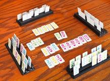 Playingfield rummy karciana gra obrazy stock