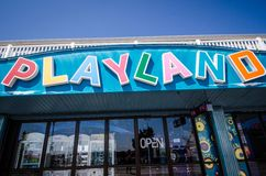 Playland Amusement Park Arcade Royalty Free Stock Images
