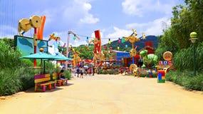 Playland da história do brinquedo em Disneylândia Hong Kong Fotografia de Stock