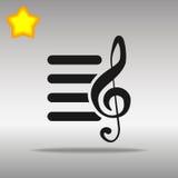 Playlist black Icon button logo symbol Royalty Free Stock Photo