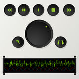 Playlist buttons Stock Photography