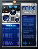 Playlist Layout vector illustration