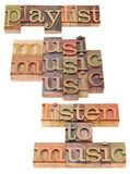 Playlist and music concept Royalty Free Stock Image