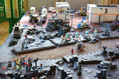 Playmobil电影工作人员外层空间场面 免版税图库摄影