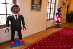 Playmobil Αφρικανός και πειρατής καπετάνιος Figures Στοκ εικόνες με δικαίωμα ελεύθερης χρήσης