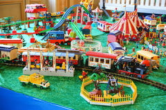 Playmobil Collection Zoo Train Station... Royalty Free Stock Images
