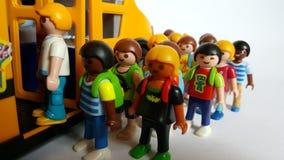 Playmobil display art stock photo