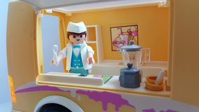 Playmobil display art royalty free stock images