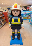 Playmobil toy at store, Seoul. SEOUL - MARCH 29, 2017: Toys at Playmobil store, located in the Hyundai IPark shopping mall. Playmobil is a line of toys produced Royalty Free Stock Image