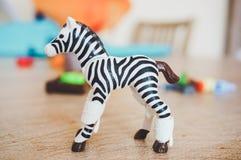 Playmobil toy zebra Royalty Free Stock Images