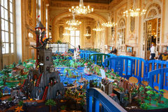 Playmobil utläggning Frankrike arkivfoto