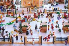 Playmobil zimy krajobraz Zdjęcie Stock