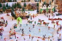 Playmobil zimy krajobraz Obrazy Royalty Free