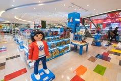 Playmobilspeelgoed bij opslag, Seoel Royalty-vrije Stock Foto's