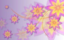 playnig света цветка предпосылки Стоковые Изображения