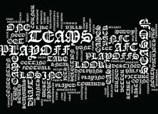 The Playoff Hunt Text Background Word Cloud Concept Stock Photography