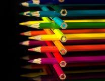 Playpen of pencils Stock Images