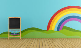 Playroom with blackboard Royalty Free Stock Photo