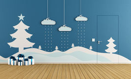 Playroom with christmas decoration Stock Photos