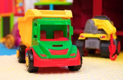 Playroom with different toys. Royalty Free Stock Images
