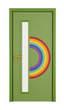 Playroom door with rainbow Royalty Free Stock Photo