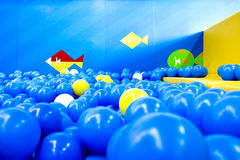Playroom full of balls Stock Photos