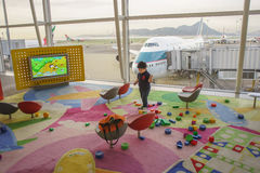 Playroom in Hong Kong International Airport Royalty Free Stock Photos