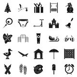 Playroom icons set, simple style Stock Image