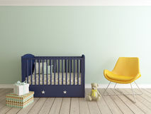 Playroom interior. A 3d image of a baby room interior, children room interior, playroom Royalty Free Stock Photo