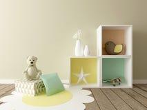 Playroom interior. A 3d image of a boy room interior, children room interior, playroom Stock Photo