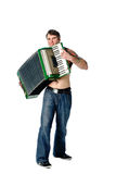 Plays accordion Stock Images